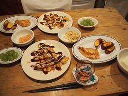 イカゲソと長ネギのお好み焼き フライパン一枚半分こ.jpg
