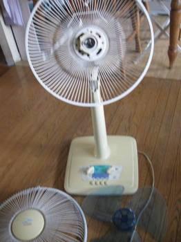 余りの暑さに倉庫から扇風機を出してお掃除 さて 動くかな?.jpg