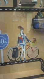 可愛い絵 パリの空港の壁画を思い出します.jpg