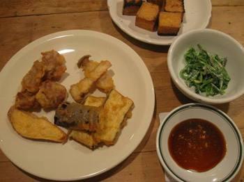 味付き天ぷらと胡麻和え.jpg
