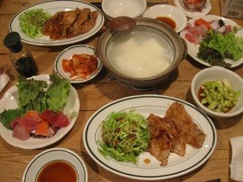 生姜焼きとお刺身.jpg