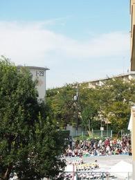 裏の幼稚園の運動会 いい天気で良かったね.jpg