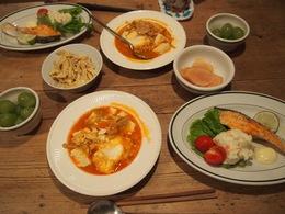 チゲ鍋にチーズと卵をプラスしてスープに.jpg