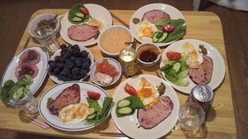 夕ご飯はハムステーキ.jpg